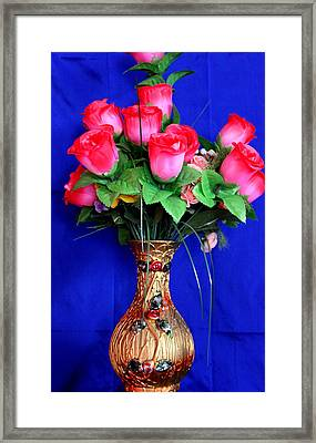Flower Vase Framed Print by Nagendra Rao  H S