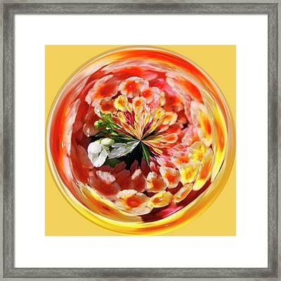Flowering Orb Framed Print