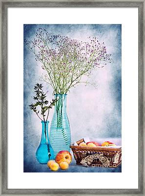 Flowers And Fruits Framed Print by Angela Doelling AD DESIGN Photo and PhotoArt