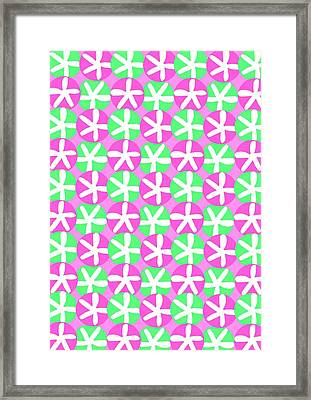 Flowers And Spots  Framed Print by Louisa Knight
