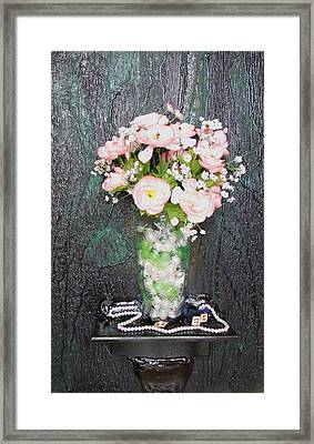 Flowers And Vase Framed Print by Angela Stout