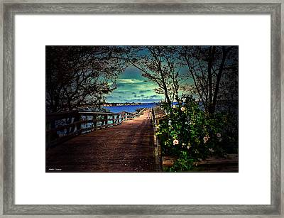 Flowers By The Pier Framed Print