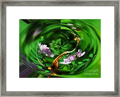 Framed Print featuring the photograph Flowers Gone Wild by Cindy Manero