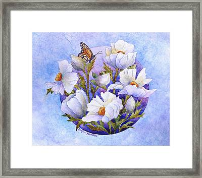 Flowers In A Circle Framed Print