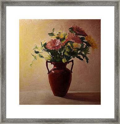 Flowers In A Square Framed Print by Rachel Hames