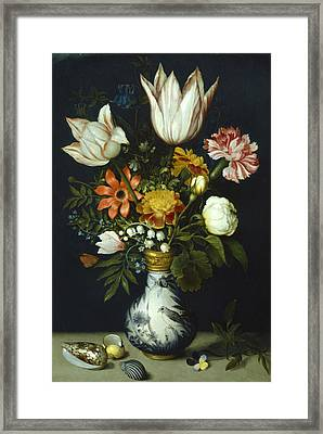 Flowers In A Vase Painting Framed Print by Photos.com