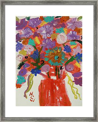 Flowers In A Wild Moment Framed Print by Mary Carol Williams