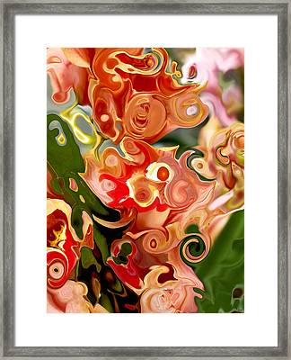 Flowers In Abstraction Framed Print