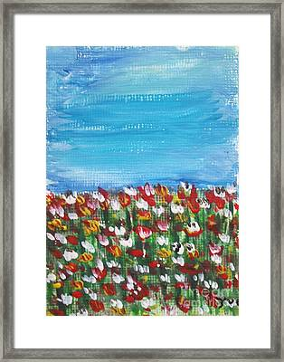 Flowers In Garden Framed Print by Yvo Tenerife