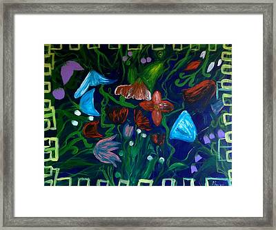 Flowers In The Garden Framed Print by Pretchill Smith