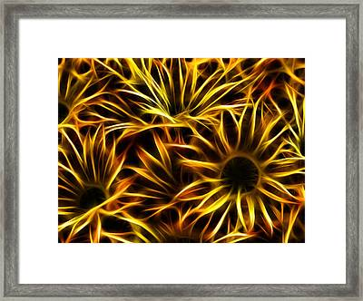 Flowers Of Flames Framed Print