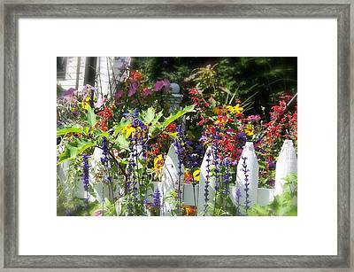 Framed Print featuring the photograph Flowers Of New Hampshire by Robin Regan