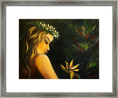 Flowers Of Paradise Framed Print by Gina De Gorna
