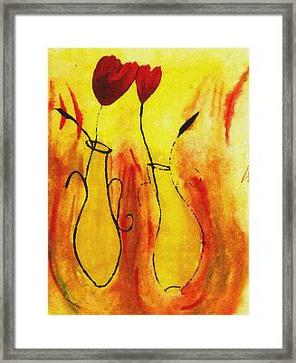 Flowers Framed Print by Sanjay Avasarala