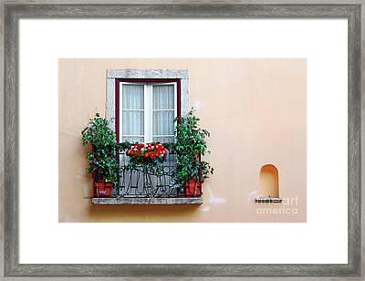 Flowery Balcony Framed Print