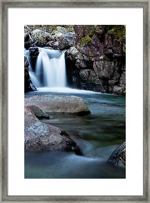 Flowing Falls Framed Print by Justin Albrecht