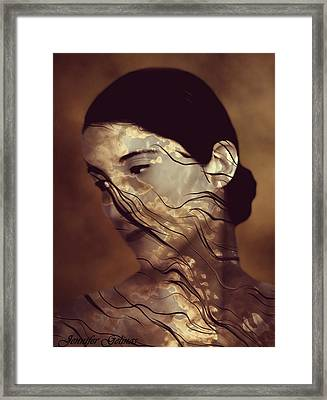 Flowing Framed Print by Jennifer Gelinas