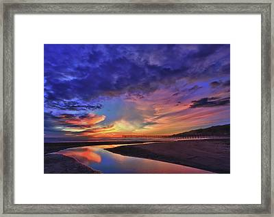 Flowing Out To The Ocean Framed Print