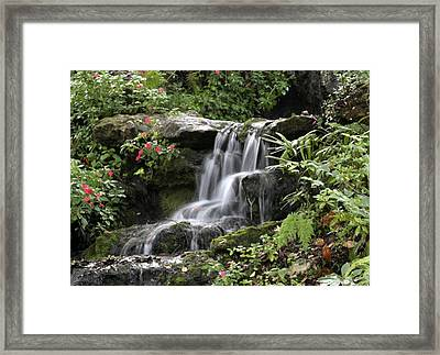 Framed Print featuring the photograph Flowing Softly by Myrna Bradshaw