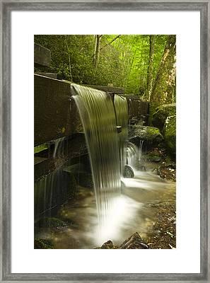 Flowing Water Framed Print by Andrew Soundarajan