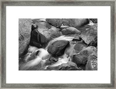 Flowing Water Down The Colorado St Vrain River Bw Framed Print by James BO  Insogna
