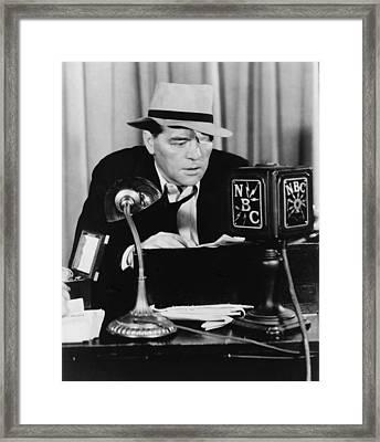 Floyd Gibbons 1887-1939, Broadcasting Framed Print by Everett