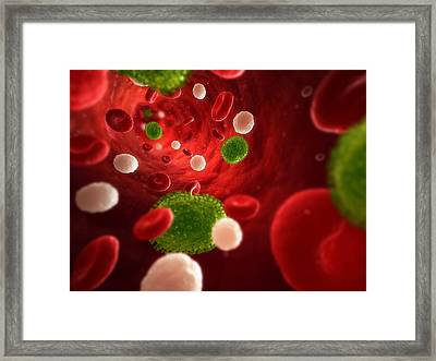 Flu Infection, Conceptual Artwork Framed Print by Sciepro