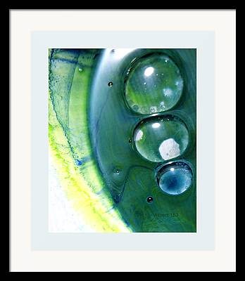 Fluidism Abstract Mixed Media Framed Prints