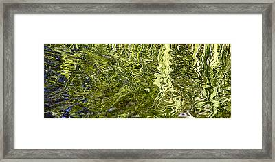 Fluidity Green Framed Print by Cindy Lee Longhini