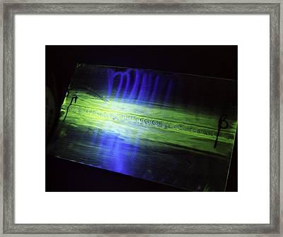 Fluorescent Dye Penetrant Test Results Framed Print by Paul Rapson
