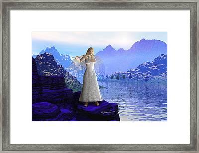 Flute Angel 2 Framed Print