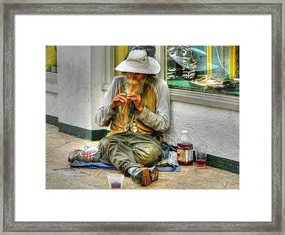 Flute Player Framed Print by David Mcchesney