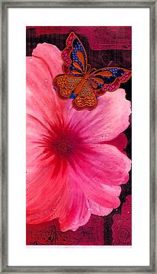 Flutter By The Flower  Framed Print by Anne-Elizabeth Whiteway
