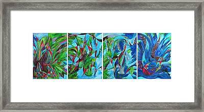 Fluttering Framed Print by Christine Bonnie Ghattas