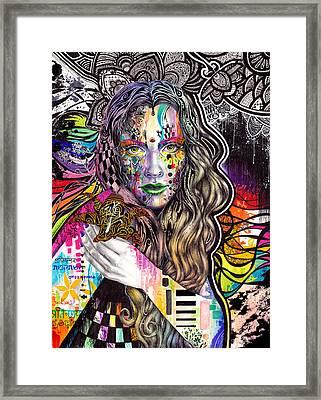Flux Framed Print by Callie Fink