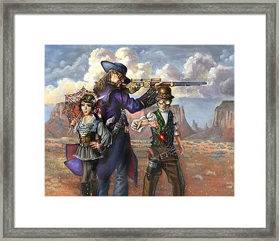 Flux Engine Framed Print