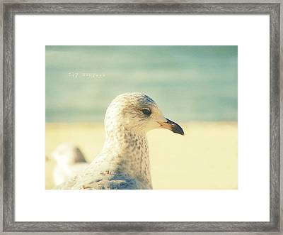 Framed Print featuring the photograph Fly Away by Robin Dickinson