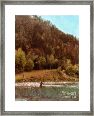 Fly Fishing Framed Print by Jill Battaglia