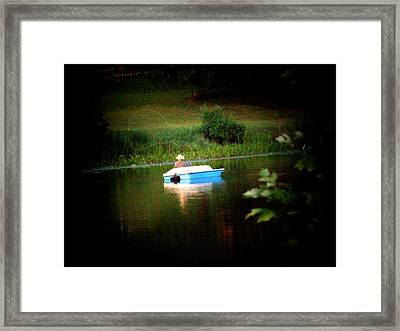 Fly Fishing Framed Print by Michael L Kimble