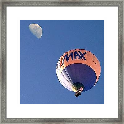 Fly Me To The Moon Framed Print by Cameron Bentley