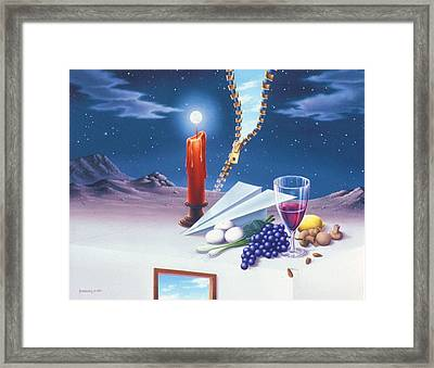 Fly On The Ceiling Framed Print by Arley Blankenship