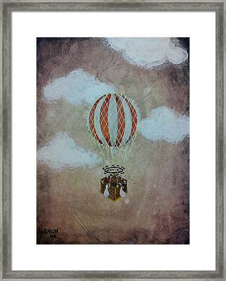 Fly Framed Print by Salwa  Najm