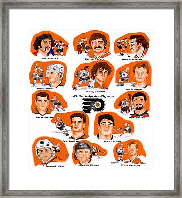Flyer Greats In Color Framed Print