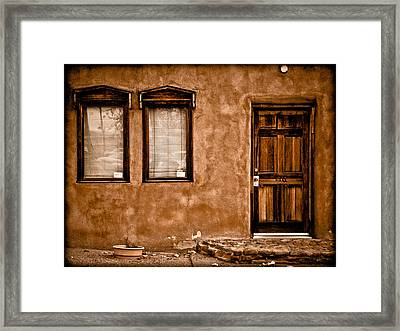 Albuquerque, New Mexico - Flyer Framed Print