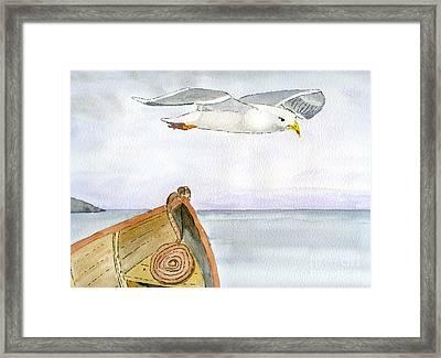 Flying Across Framed Print by Eva Ason