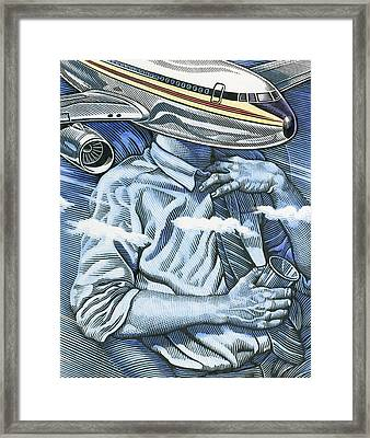 Flying And Health Framed Print by Bill Sanderson