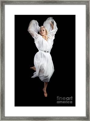 Flying Angel Framed Print by Cindy Singleton