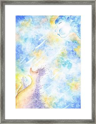 Flying Away Framed Print by Asida Cheng