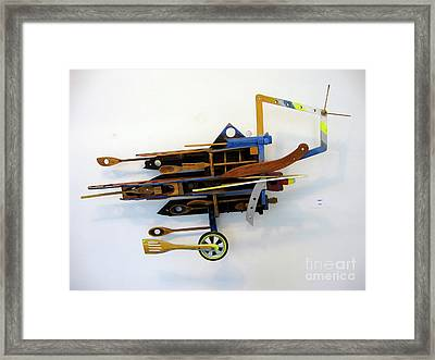 Flying Framed Print by Bill Thomson