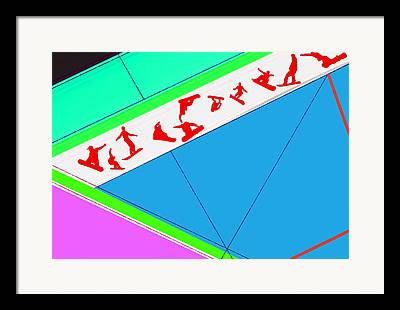 Winter Sports Digital Art Framed Prints
